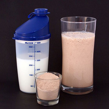 Protein Shakes are often used in conjunction with steroids